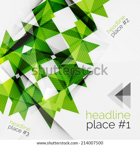 Business futuristic triangle composition - modern layout - stock vector