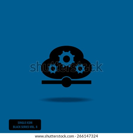 Business Gears - Single Icon Series vol. 8 - stock vector