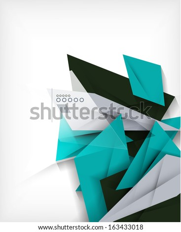 Business geometric shape abstract background - stock vector