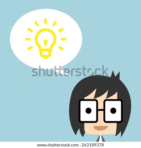 Business get idea and thinking , EPS10 - stock vector