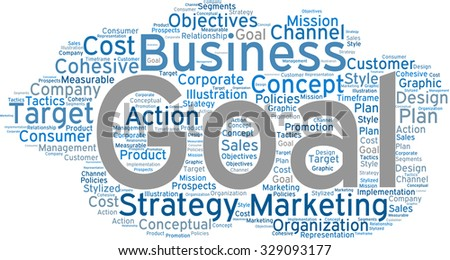 Business Goal word cloud on a white background.