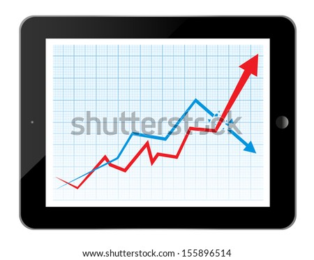 Business graph and chart  - stock vector