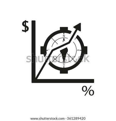 Business graph and chart icon