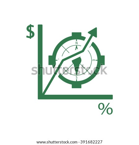Business graph and chart icon, vector illustration.