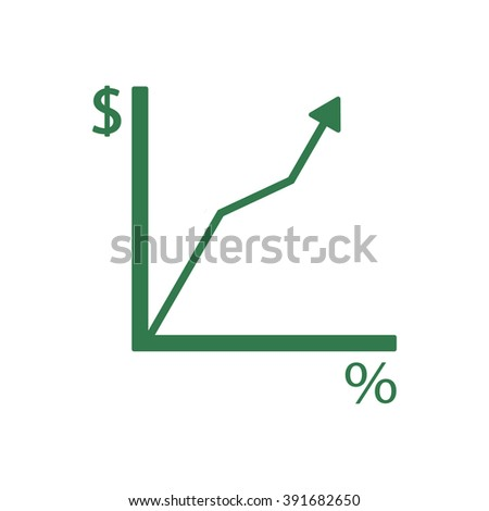 Business graph and chart icon, vector illustration.  - stock vector