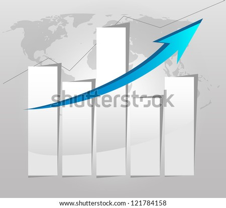 Business graph and chart Paper 7 - stock vector