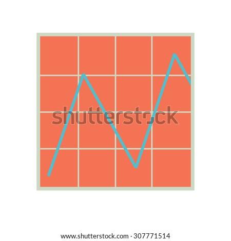 Business Graph and Chart. Progress Statistics. Info Graphics Diagram. Illustration, Vector - stock vector