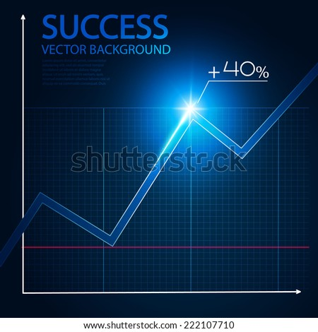 Business graph and chart. Vector illustration - stock vector