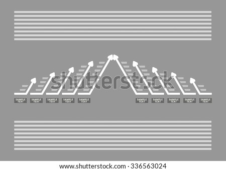 Business graph chart. Abstract illustration for your presentation. - stock vector