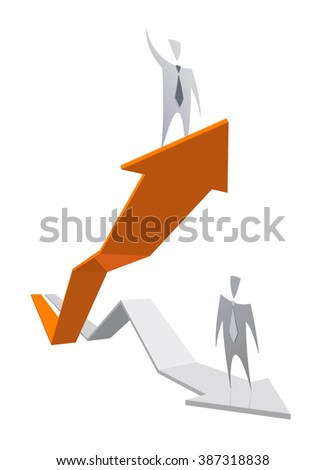 Business Graph Growing Vector