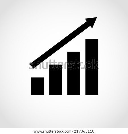 Business graph Icon Isolated on White Background - stock vector