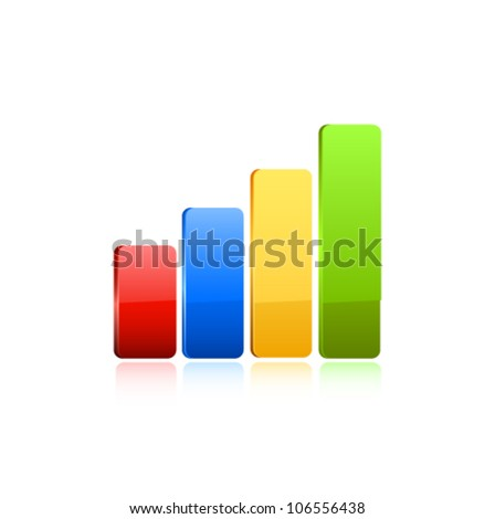 Business graph icon. Vector - stock vector