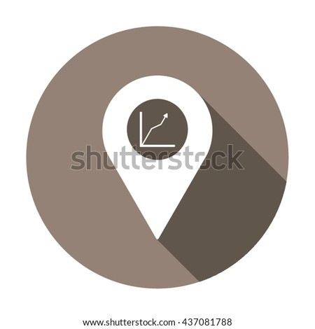 Business graph Icon Vector. Business graph Icon JPEG. Business graph Icon Picture. Business graph Icon JPG. Business graph Icon EPS. Business graph Icon AI. Business graph Icon Drawing - stock vector