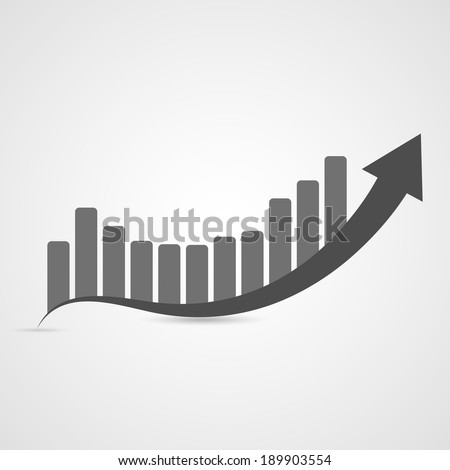 Business graph icon. Vector illustration - stock vector