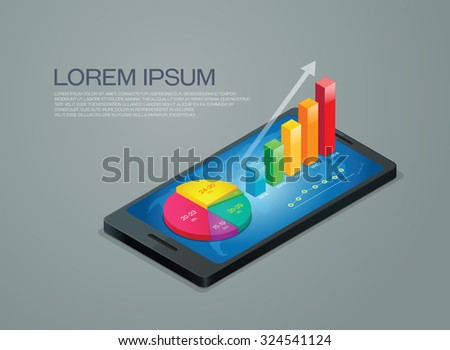 business graph mobile phone