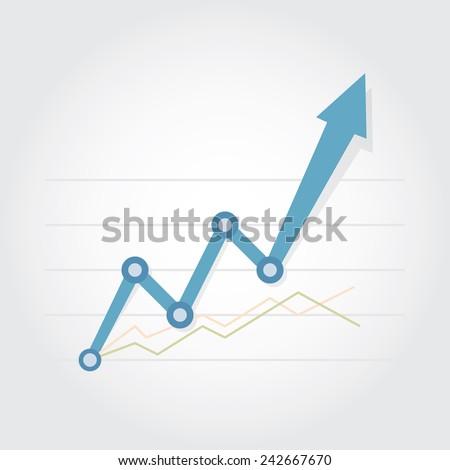 Business Graph , Vector illustration eps10 - stock vector