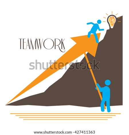 Business graphic design, teamwork, Vector illustration