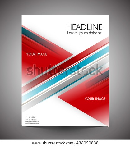 Business graphics brochures. web template, flyers and prints.