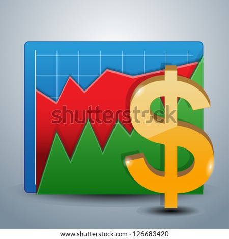 Business graphs - stock vector