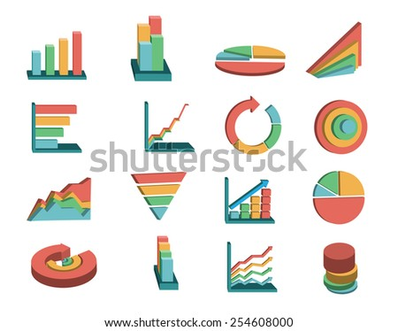 business graphs set - stock vector