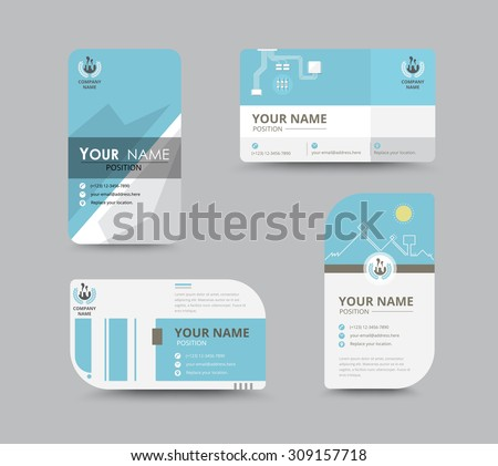 Contact Card Template Business Name Card Vector 287876777 – Sample of Name Card