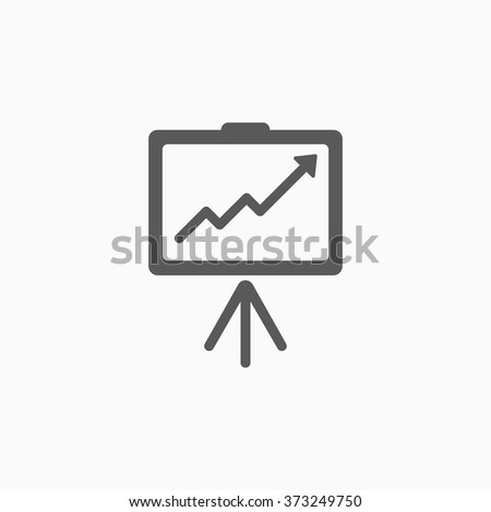 business growing chart presentation icon - stock vector