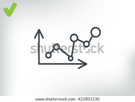 Business Growing Chart Presentation Icon . vector design - stock vector