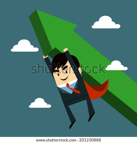 Business growth - stock vector