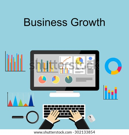 Business growth concept illustration. - stock vector