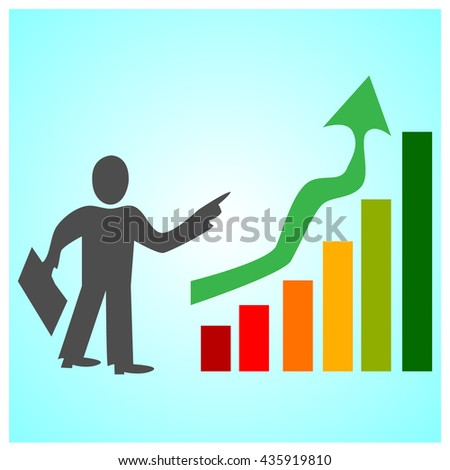 business growth success vector