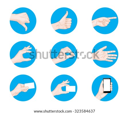 business hand gestures icon vector illustration