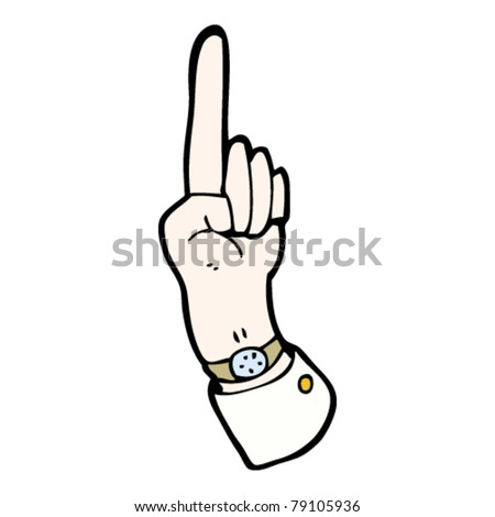 business hand pointing up cartoon