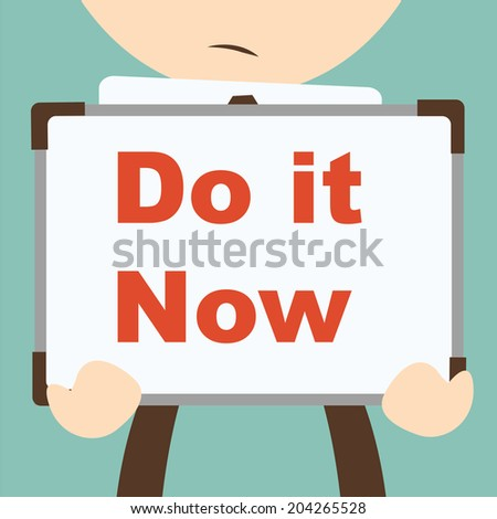 Business hand writing Do it Now - stock vector
