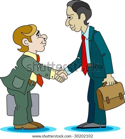 Business Handshake - stock vector