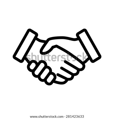 Business Handshake Contract Agreement Line Art Icon For Apps And Websites