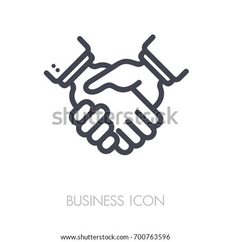 Business Handshake Contract Agreement Outline Icon Stockvector