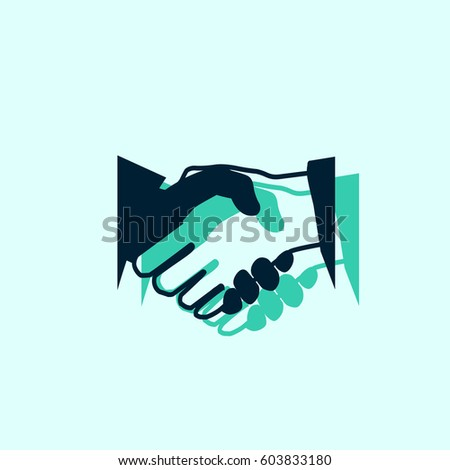 Business handshake icon