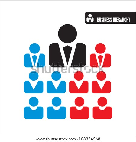 business hierarchy icons - stock vector