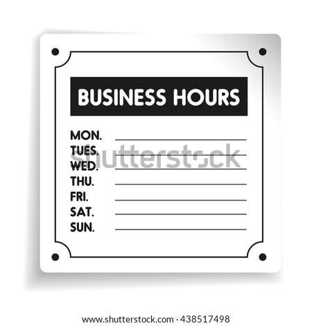 New business hours template 9 business hours template microsoft word catering resume wajeb Choice Image