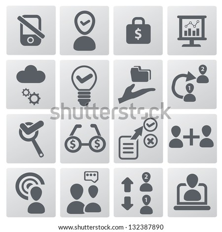 Business,Human resource management icons,vector - stock vector