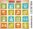 Business,Human resource management icons,vintage style,vector - stock vector
