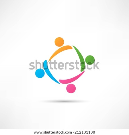 Business icon. Handshake - stock vector