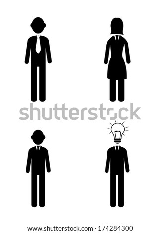 business icon over white background vector illustration