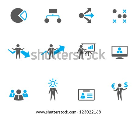 Business icon series in duo tone style - stock vector