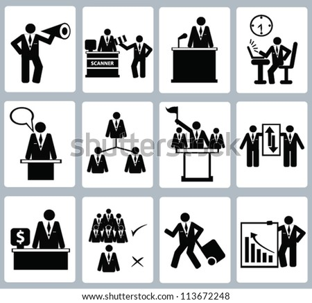Business Icon set,and human resource,Vector - stock vector
