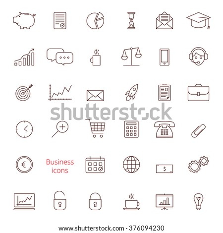 Business icon set. Business icon isolated on a white background. Business icon in vector.