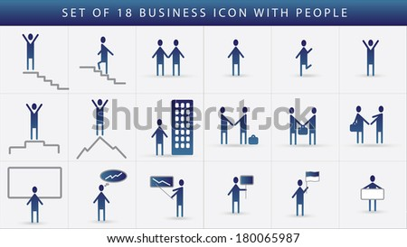 Business icon set of human communication. Unusual vector arrow people.