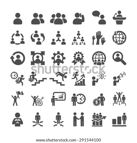 business icon set, vector eps10. - stock vector