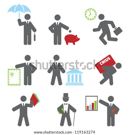 Business icon. Vector set for you design - stock vector