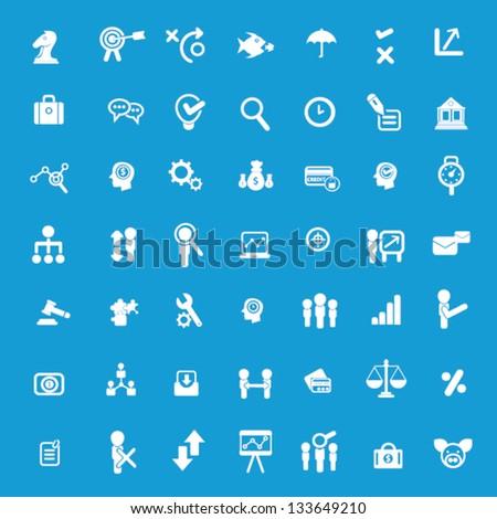 Business icons and human resource icons,vector - stock vector